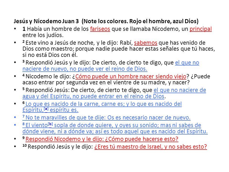 Jesús y Nicodemo Juan 3 (Note los colores.