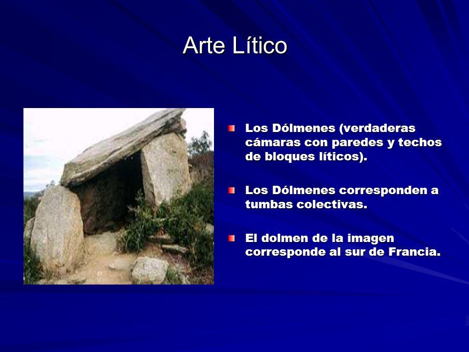 Arte Lítico Los Dólmenes (verdaderas cámaras con paredes y techos de bloques líticos).