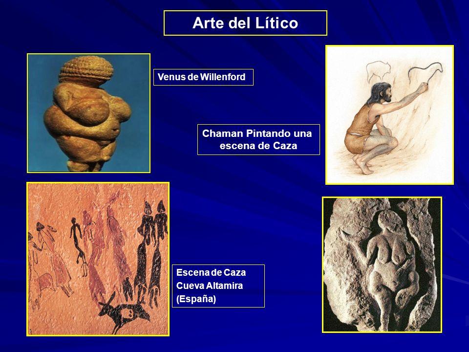 Arte del Lítico Venus de Willenford Chaman Pintando una escena de Caza Escena de Caza Cueva Altamira (España)