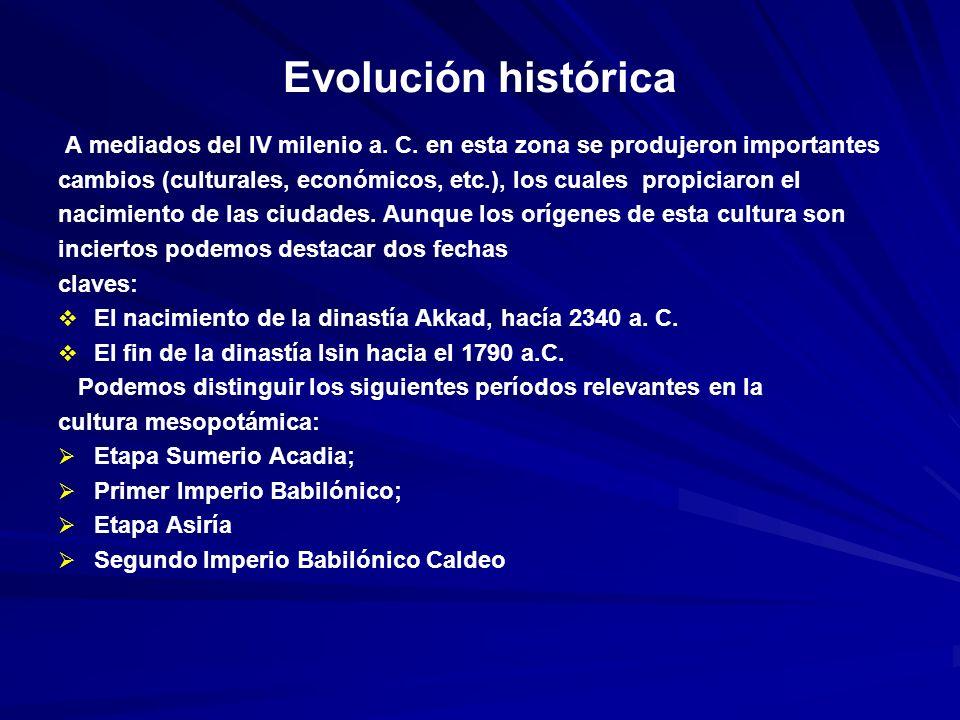 Evolución histórica A mediados del IV milenio a.C.