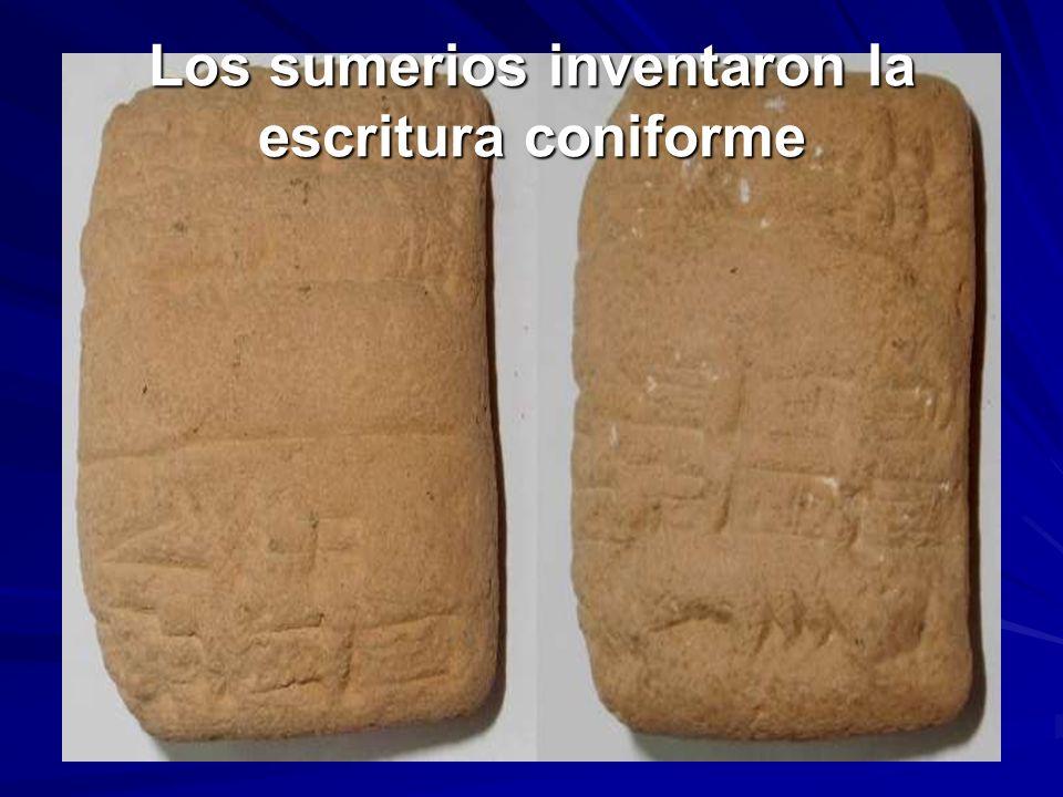 Los sumerios inventaron la escritura coniforme