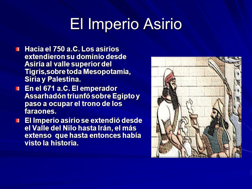 El Imperio Asirio Hacia el 750 a.C.