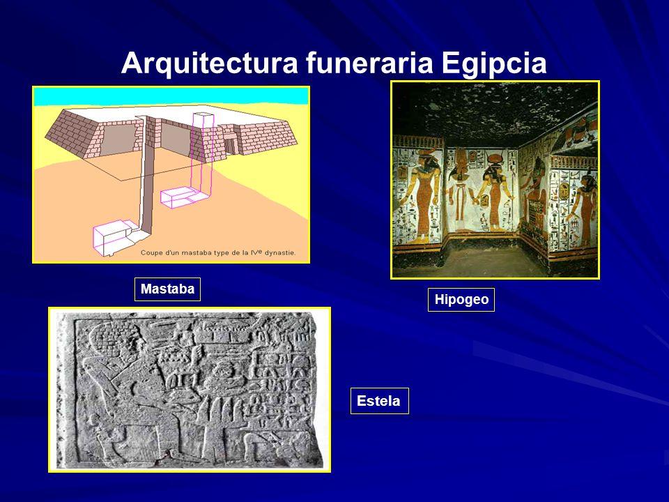 Arquitectura funeraria Egipcia Estela Hipogeo Mastaba
