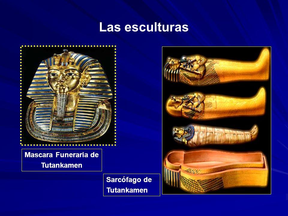 Las esculturas Sarcófago de Tutankamen Mascara Funeraria de Tutankamen