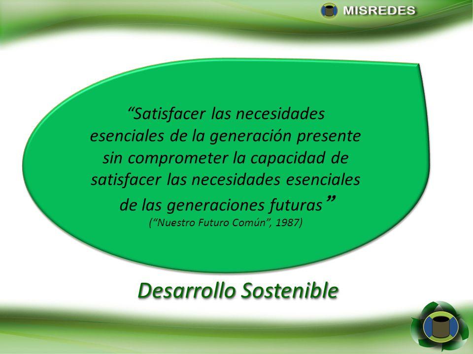Satisfacer las necesidades esenciales de la generación presente sin comprometer la capacidad de satisfacer las necesidades esenciales de las generacio