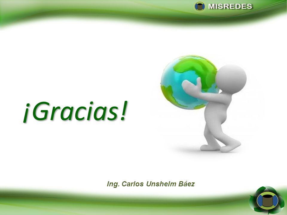 Ing. Carlos Unshelm Báez ¡Gracias!