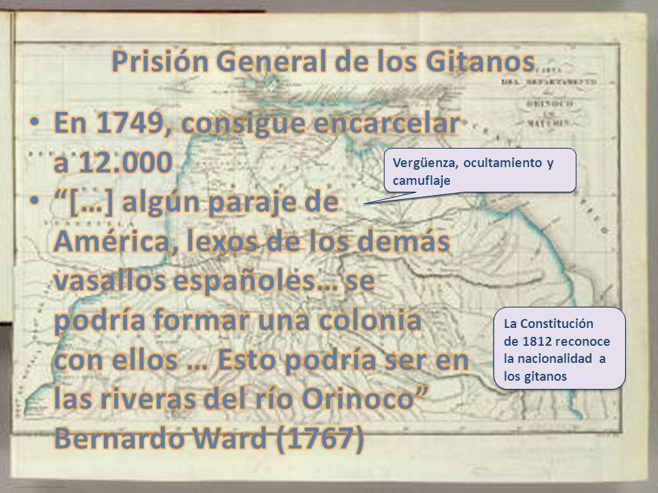La Constitución de 1812 reconoce la nacionalidad a los gitanos Vergüenza, ocultamiento y camuflaje