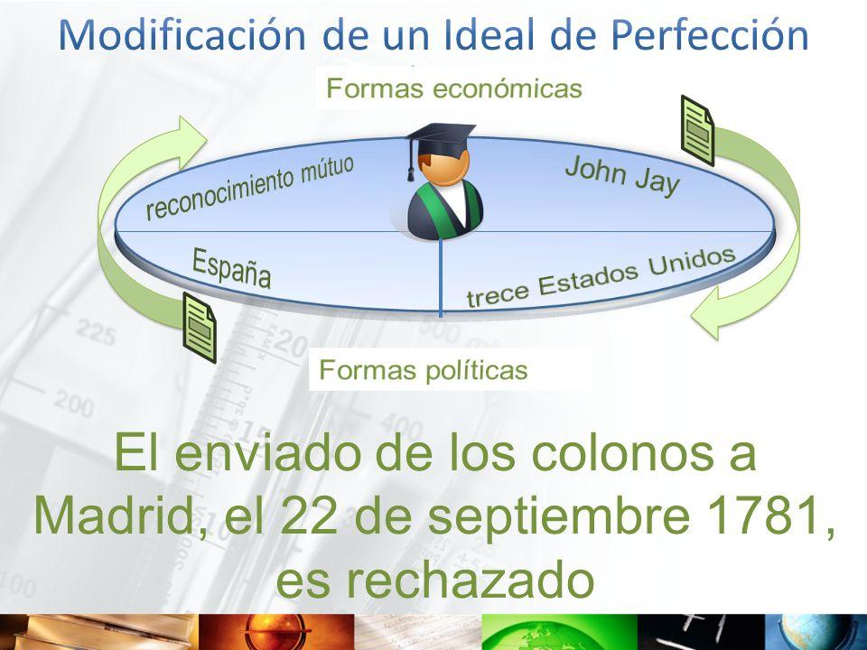El enviado de los colonos a Madrid, el 22 de septiembre 1781, es rechazado