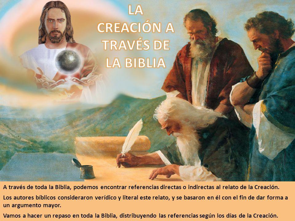 A través de toda la Biblia, podemos encontrar referencias directas o indirectas al relato de la Creación. Los autores bíblicos consideraron verídico y