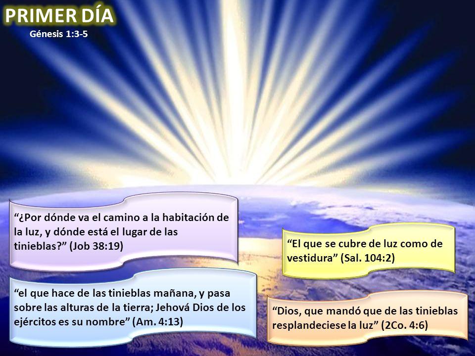 El que se cubre de luz como de vestidura (Sal. 104:2) ¿Por dónde va el camino a la habitación de la luz, y dónde está el lugar de las tinieblas? (Job