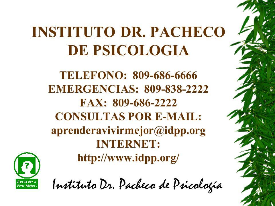 Instituto Dr. Pacheco de Psicología INSTITUTO DR.