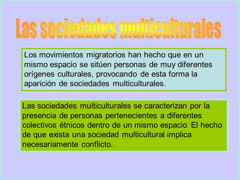 Los movimientos migratorios han hecho que en un mismo espacio se sitúen personas de muy diferentes orígenes culturales, provocando de esta forma la ap