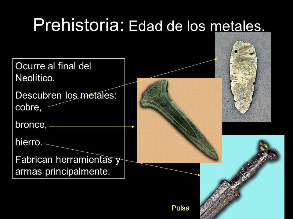 De la Prehistoria a la Historia Cuando el hombre inventa la escritura se produce el paso a la Historia.