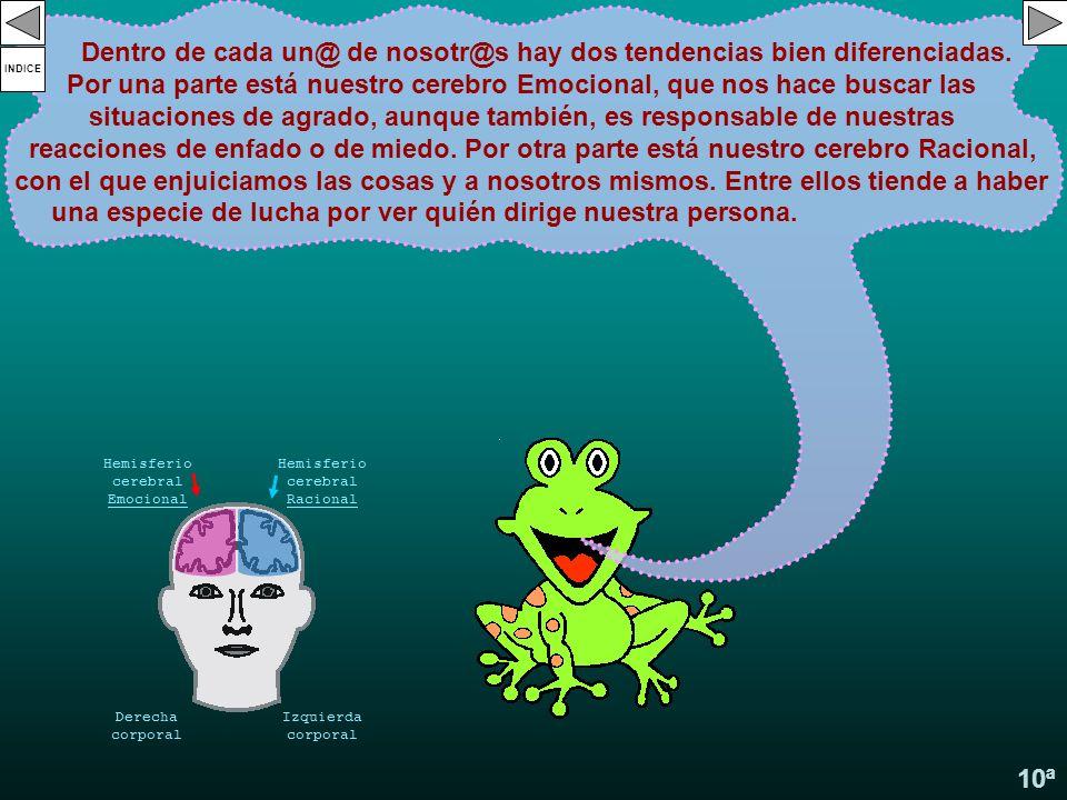 9ª Deben comunicarse con el mismo tipo de cerebro. No damos de nuestra experiencia por el mero hecho de hablar desde nosotros, sino cuando nos situamo