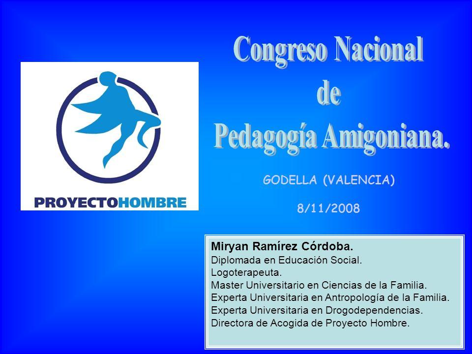 GODELLA (VALENCIA) 8/11/2008 Miryan Ramírez Córdoba. Diplomada en Educación Social. Logoterapeuta. Master Universitario en Ciencias de la Familia. Exp