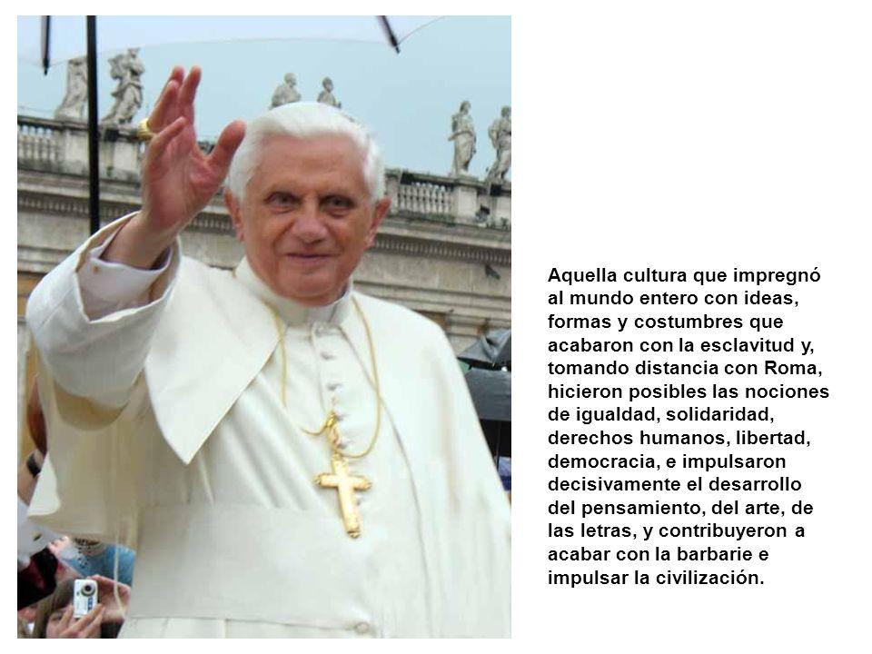Juzgar hasta qué punto Benedicto XVI fue acertado o no en este tema es algo que, claro está, corresponde sólo a los católicos. Pero los no creyentes h