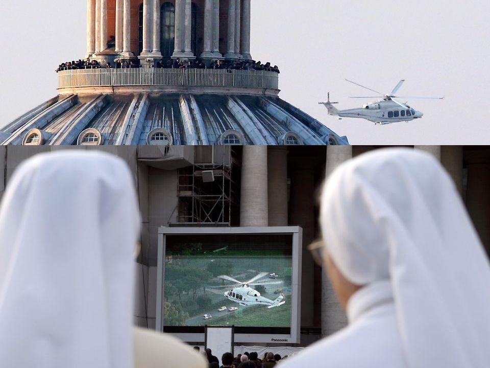 Ayer, día 28 de febrero de 2013 a las 17.00 h. el todavía Papa ha partido en helicóptero desde el Vaticano hacia la residencia estival de Castel Gando