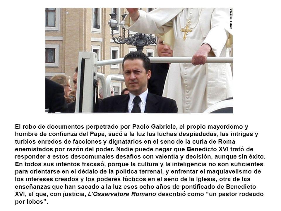 A Benedicto XVI le ha tocado uno de los períodos más difíciles que ha enfrentado el cristianismo en sus más de dos mil años de historia. La seculariza