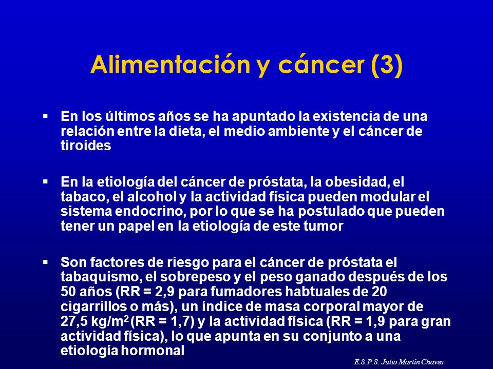 Alimentación y cáncer (3) En los últimos años se ha apuntado la existencia de una relación entre la dieta, el medio ambiente y el cáncer de tiroides E