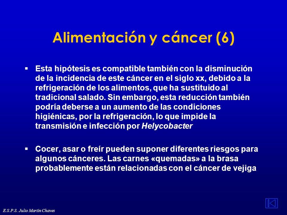 Alimentación y cáncer (6) Esta hipótesis es compatible también con la disminución de la incidencia de este cáncer en el siglo xx, debido a la refriger