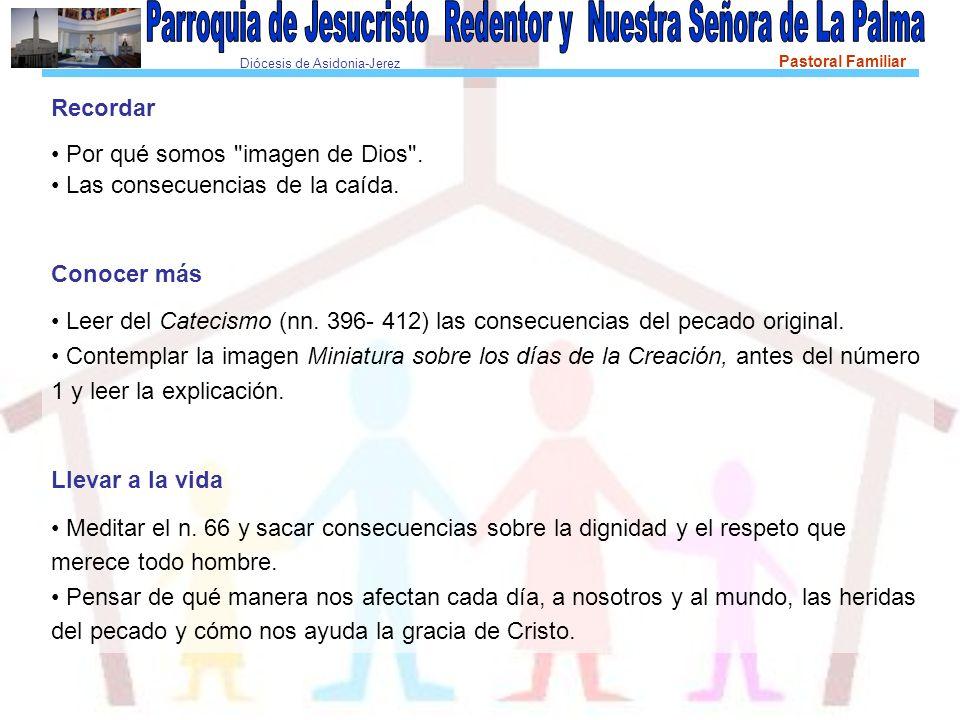 Diócesis de Asidonia-Jerez Pastoral Familiar Recordar Por qué somos