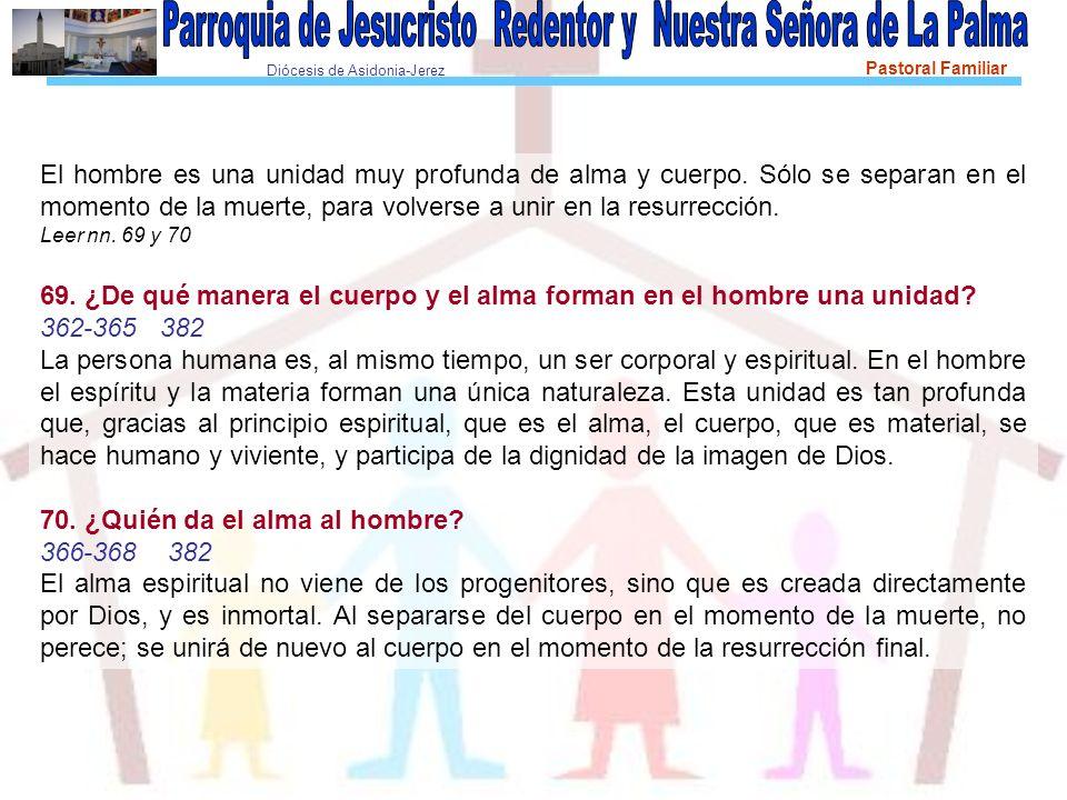 Diócesis de Asidonia-Jerez Pastoral Familiar También explica el Compendio la complementariedad entre hombre y mujer.