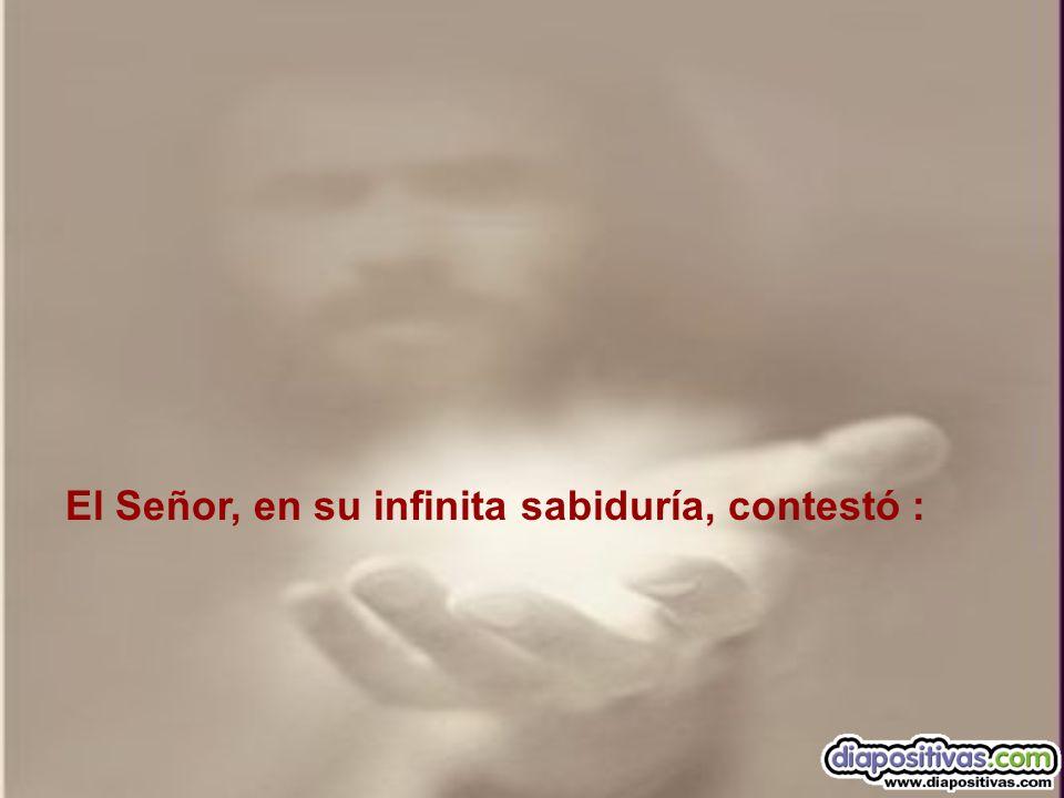 El Señor, en su infinita sabiduría, contestó :