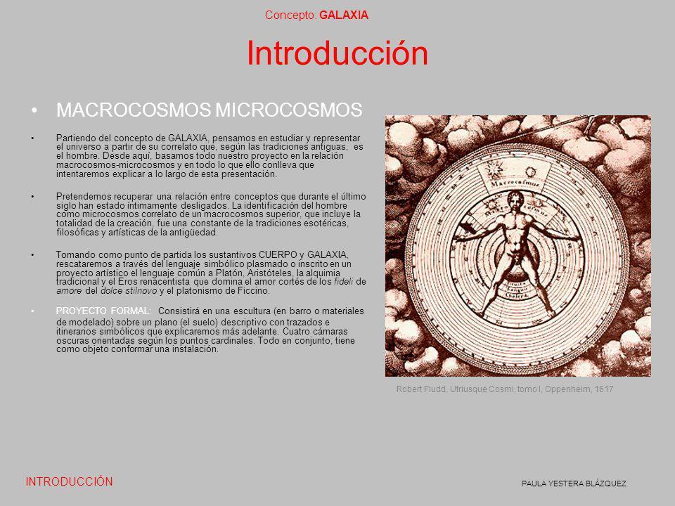Concepto: GALAXIA PAULA YESTERA BLÁZQUEZ Introducción MACROCOSMOS MICROCOSMOS Partiendo del concepto de GALAXIA, pensamos en estudiar y representar el