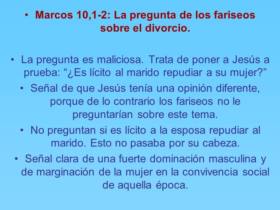 Marcos 10,1: Una indicación geográfica. El autor del Evangelio de Marcos tiene la costumbre de situar el acontecimiento con éstas y otras breves infor