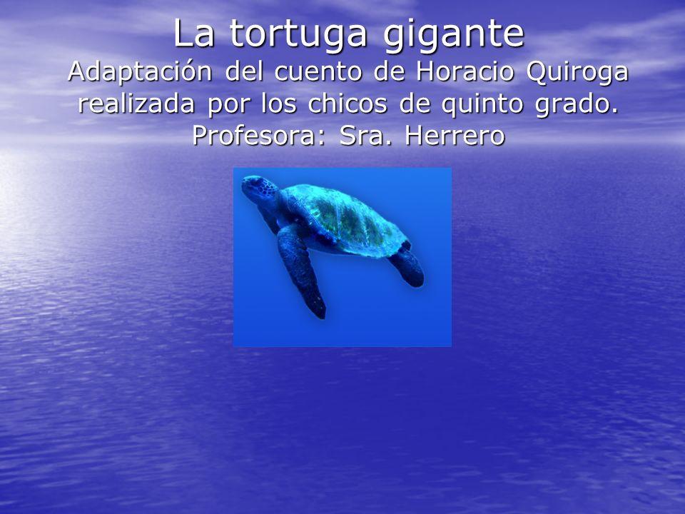 La tortuga gigante Adaptación del cuento de Horacio Quiroga realizada por los chicos de quinto grado. Profesora: Sra. Herrero