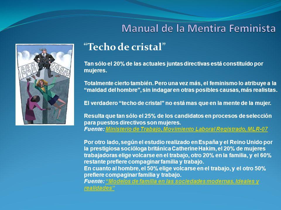 Techo de cristal Tan sólo el 20% de las actuales juntas directivas está constituído por mujeres. Totalmente cierto también. Pero una vez más, el femin