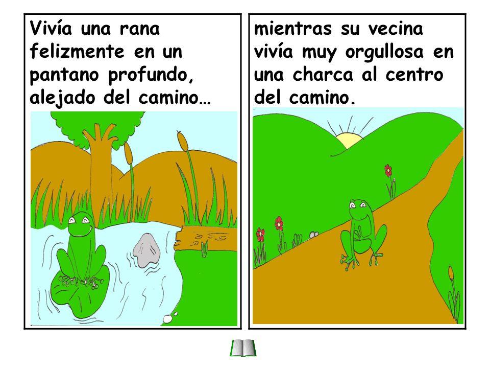 La rana del pantano y la del camino.