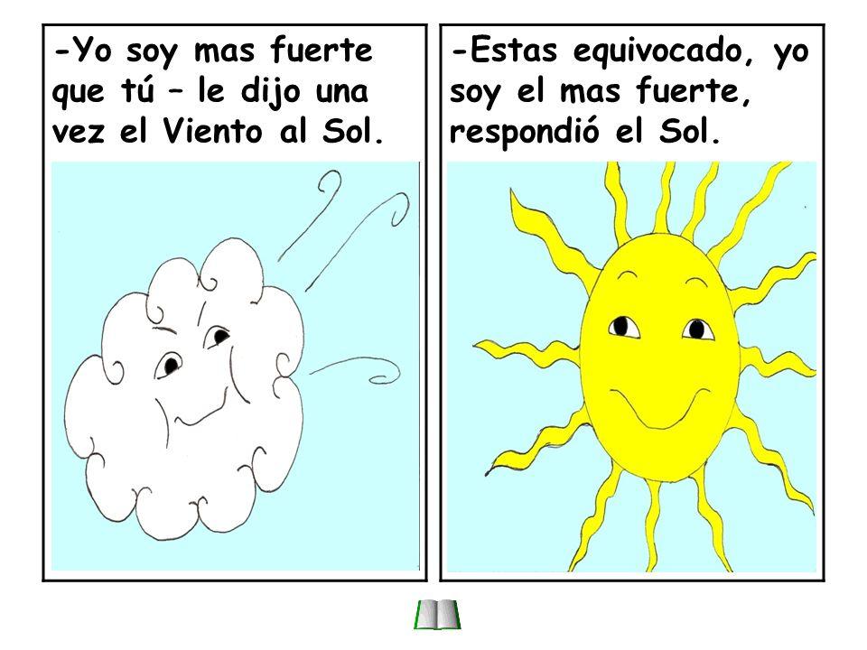 El viento y el sol.