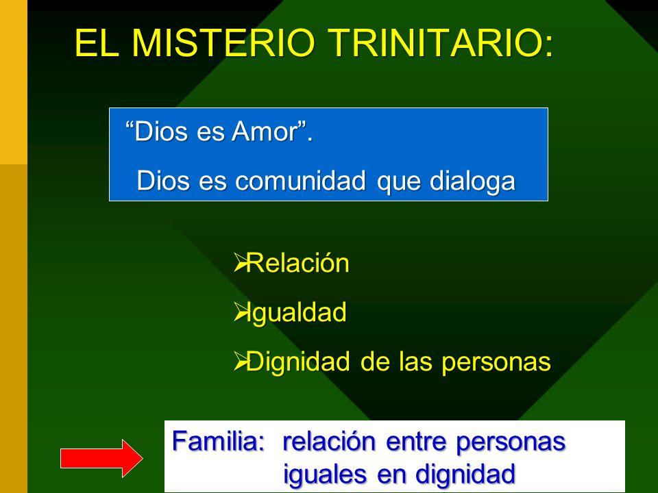 EL MISTERIO TRINITARIO: Dios es Amor.