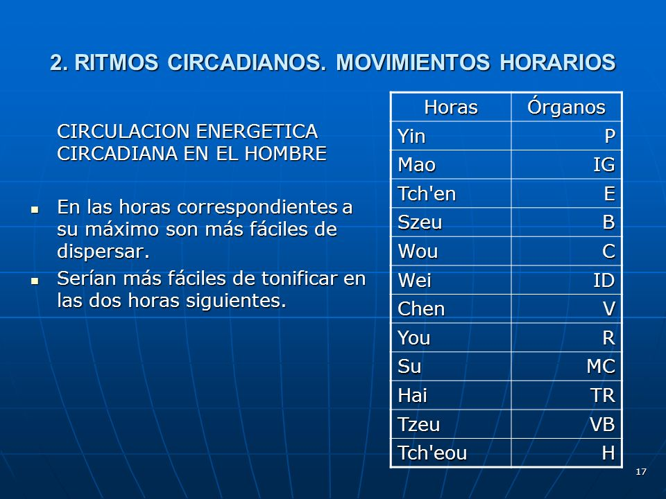 17 2.RITMOS CIRCADIANOS.
