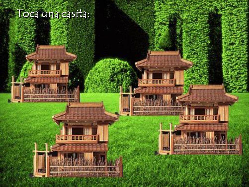 Cada casita esconde una sorpresa para ti. Cada casita esconde una sorpresa para ti. Toca el bonsai y entra al jardín. Toca el bonsai y entra al jardín