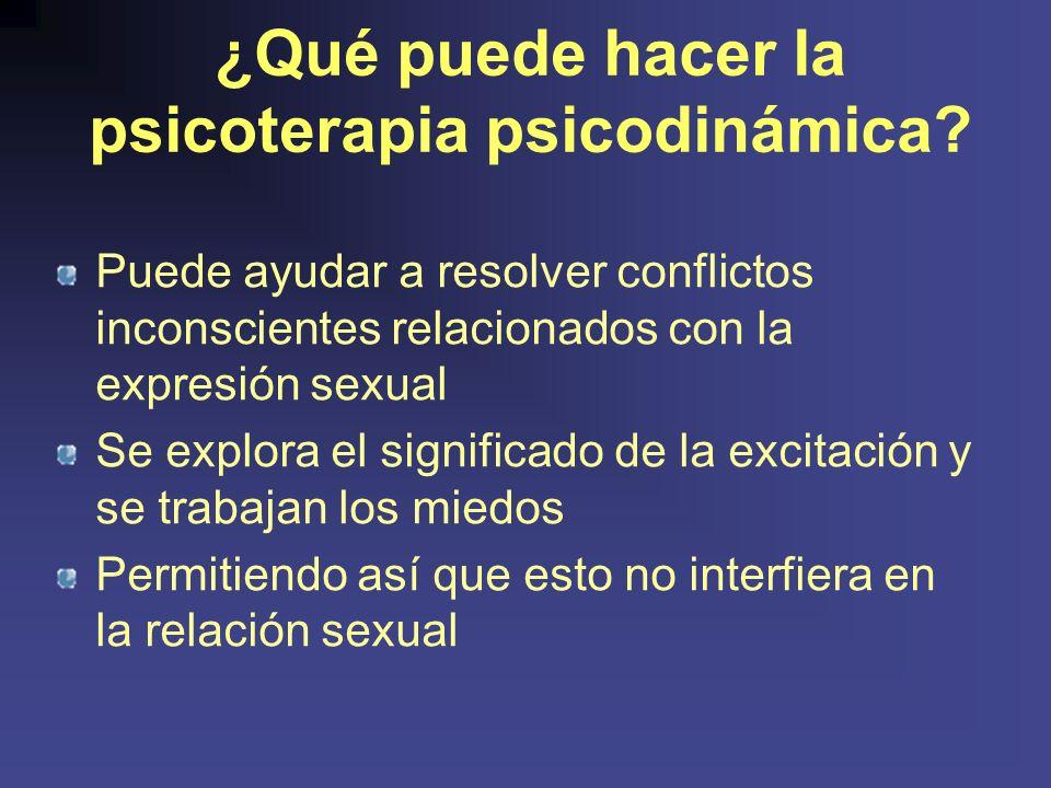 ¿Qué puede hacer la psicoterapia psicodinámica.