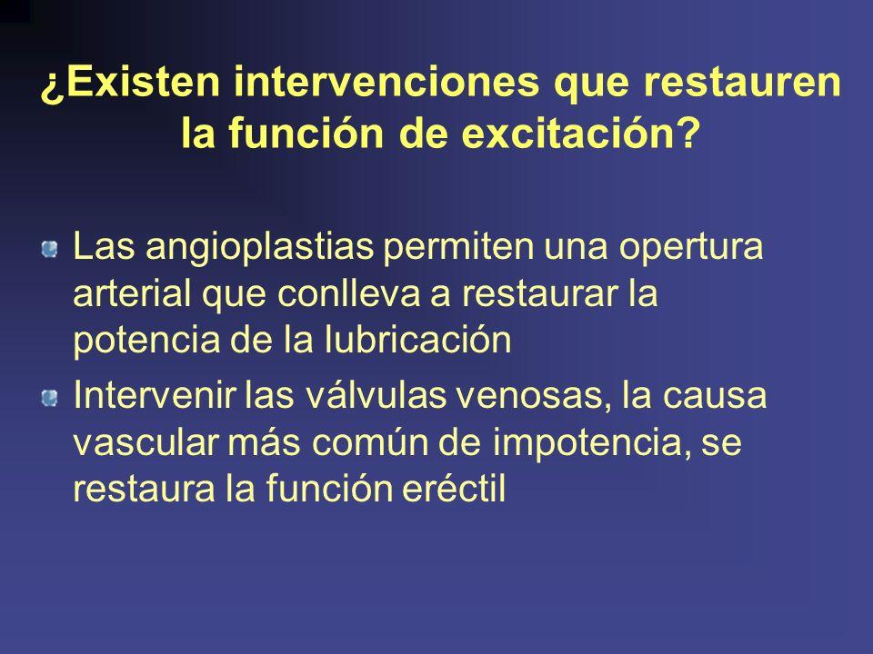 ¿Existen intervenciones que restauren la función de excitación.