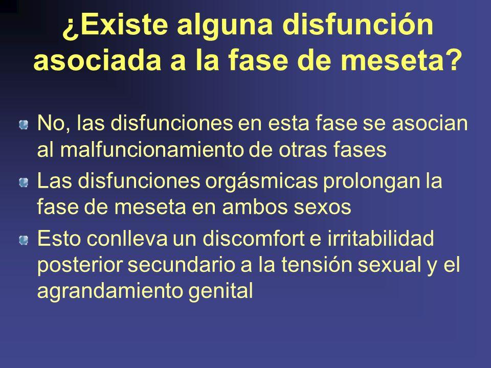 ¿Existe alguna disfunción asociada a la fase de meseta.