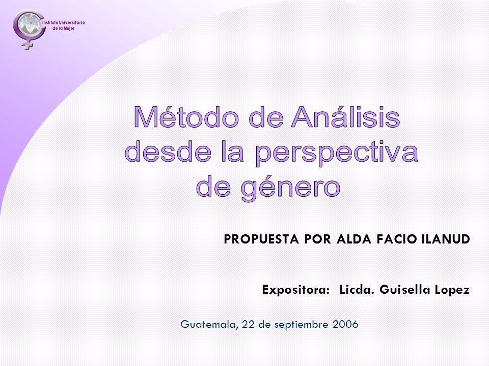 PROPUESTA POR ALDA FACIO ILANUD Guatemala, 22 de septiembre 2006 Expositora: Licda. Guisella Lopez