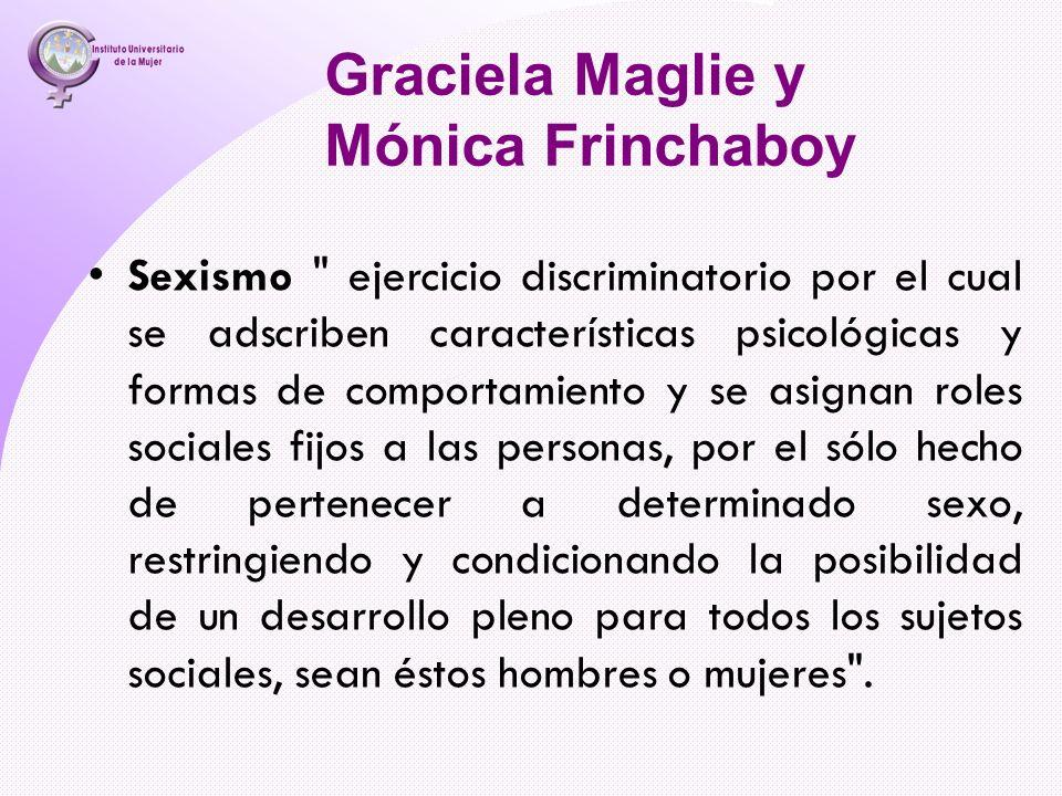 Graciela Maglie y Mónica Frinchaboy Sexismo