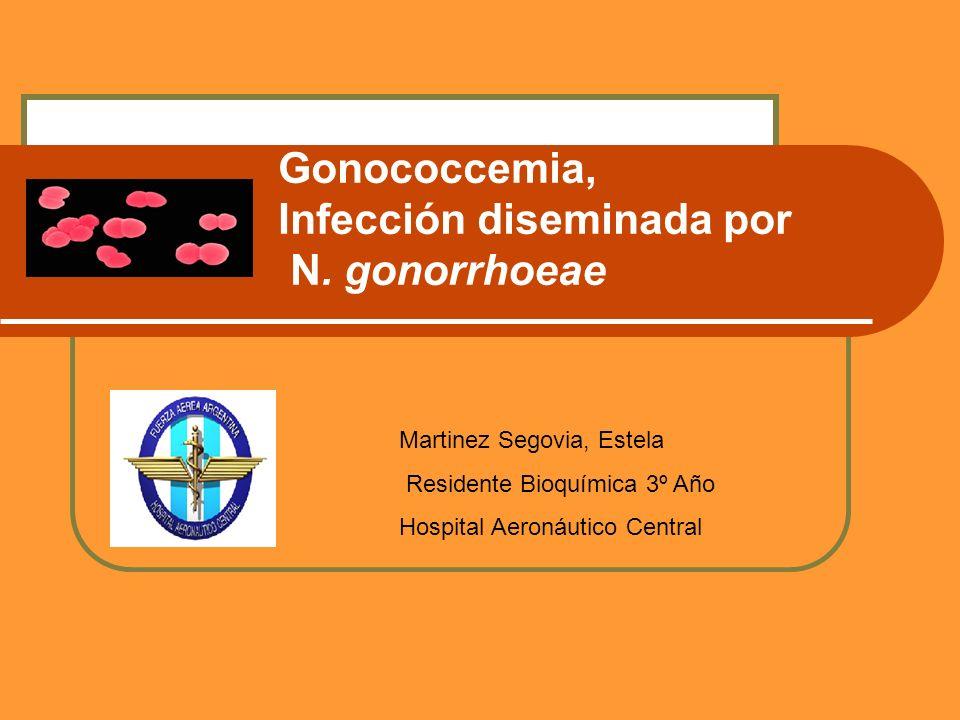 Gonococcemia, Infección diseminada por N.