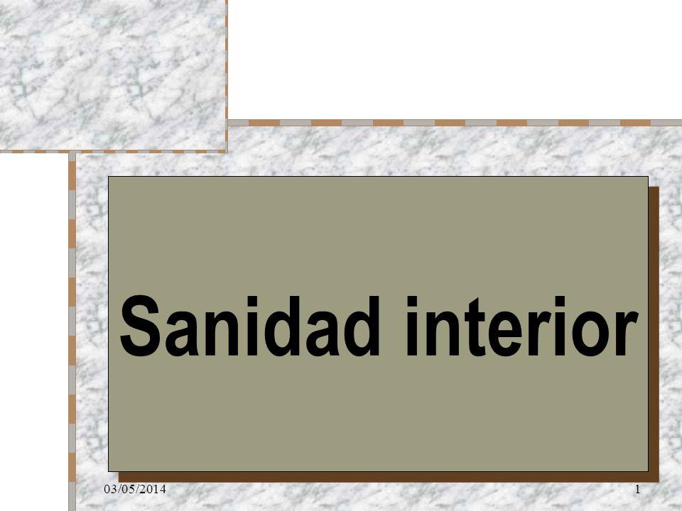 03/05/20141 Sanidad interior