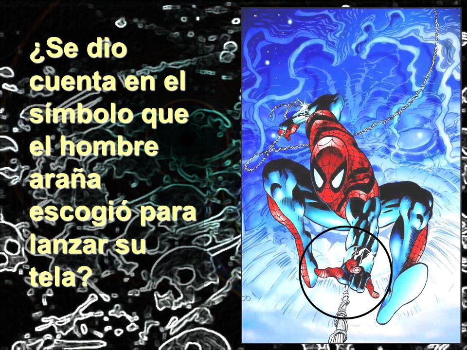 ¿Se dio cuenta en el símbolo que el hombre araña escogió para lanzar su tela?
