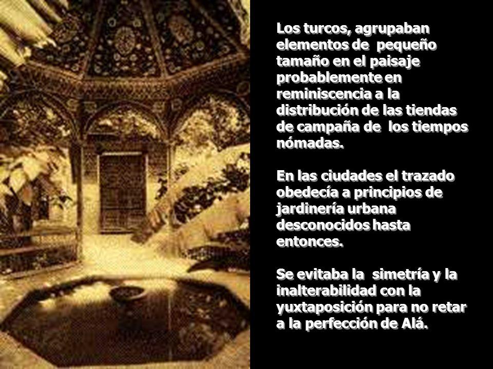 La idea de jardín de origen islámico se mezcló con la del atrio romano.