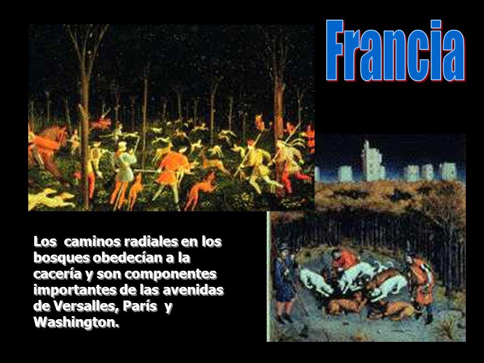 Los jardines franceses tienen influencia italiana.