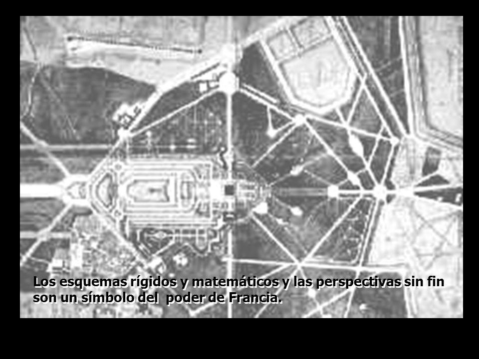 Los esquemas rígidos y matemáticos y las perspectivas sin fin son un símbolo del poder de Francia.