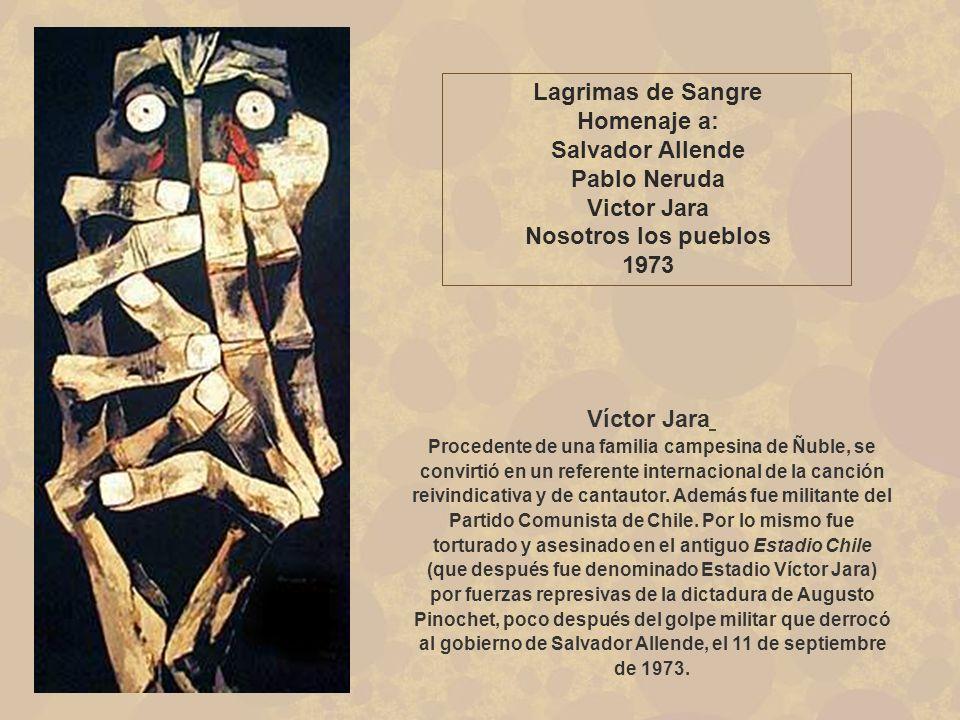 Los Torturados «Era un período difícil en la historia de América Latina y Guayasamín creía que EEUU era cómplice en los abusos a los derechos humanos».