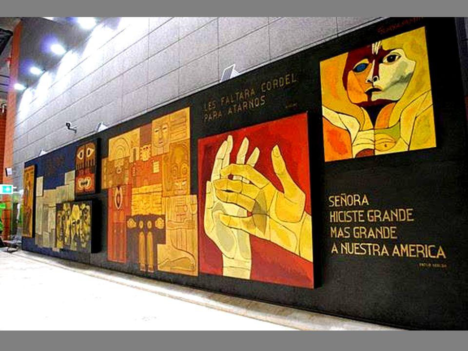 Mural en el Palacio Legislativo en Quito
