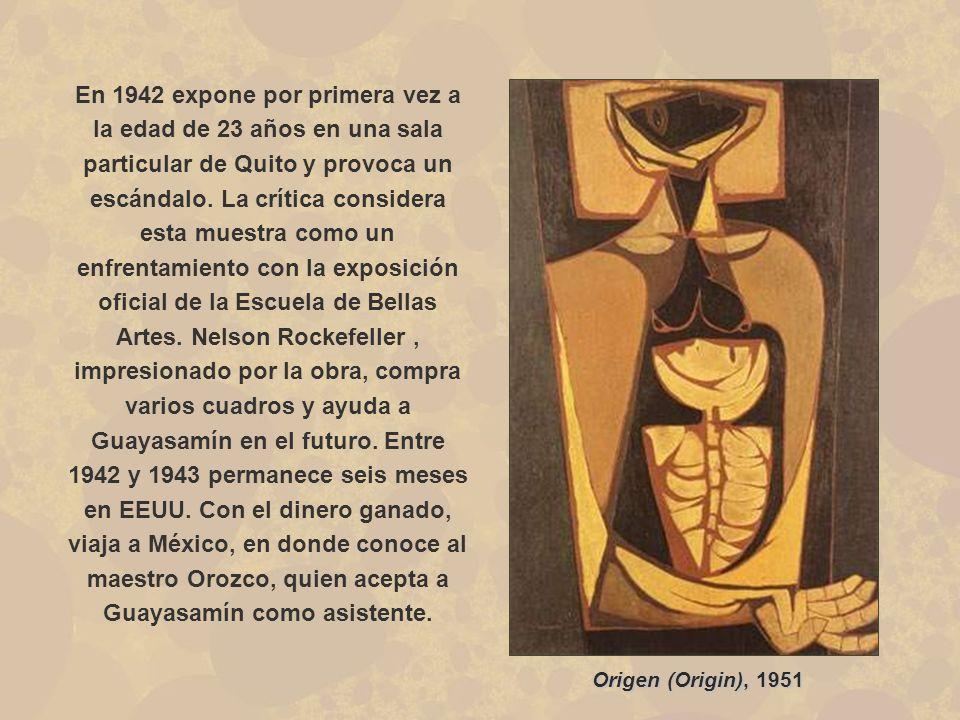El Violinista 1966 También entabla amistad con Pablo Neruda y un año después viaja por diversos países de América Latina, entre ellos Perú, Brasil, Chile, Argentina y Uruguay, encontrando en todos ellos una sociedad indígena oprimida, temática que, desde entonces, aparece siempre en sus obras.